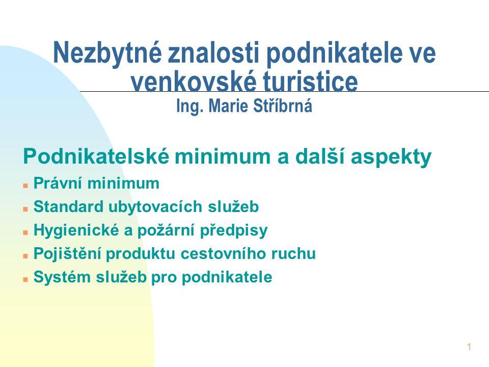 kratochvil-1 8.4.2017. Nezbytné znalosti podnikatele ve venkovské turistice Ing. Marie Stříbrná. Podnikatelské minimum a další aspekty.