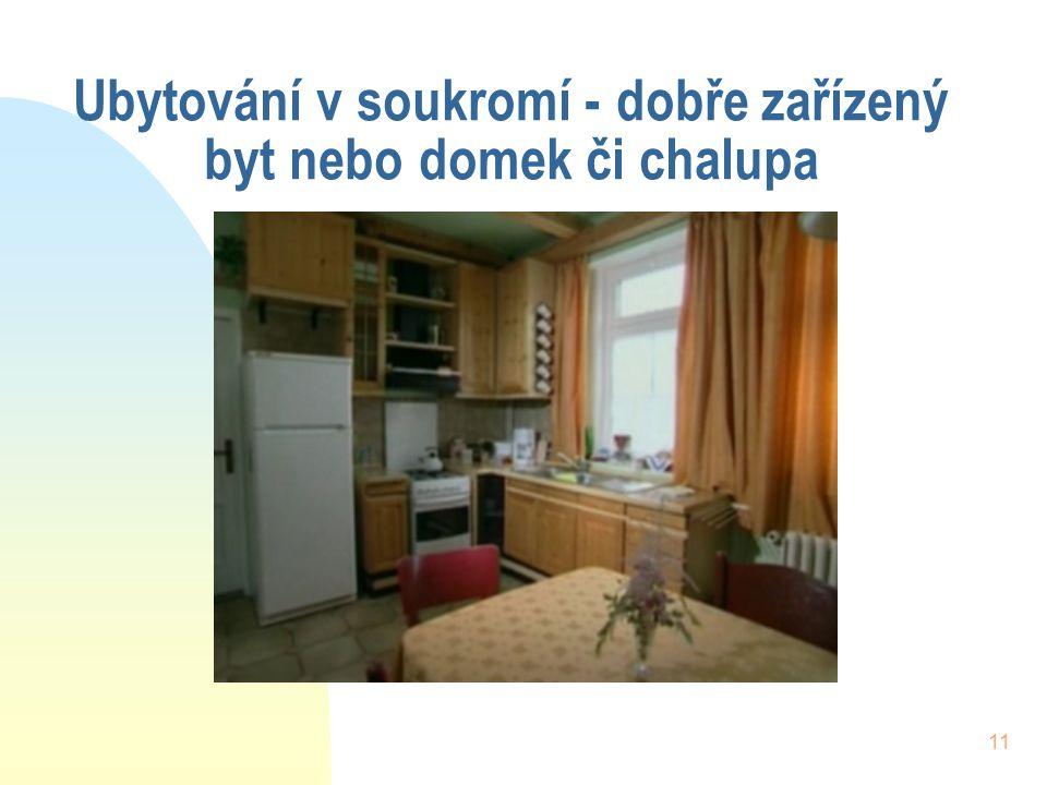 Ubytování v soukromí - dobře zařízený byt nebo domek či chalupa
