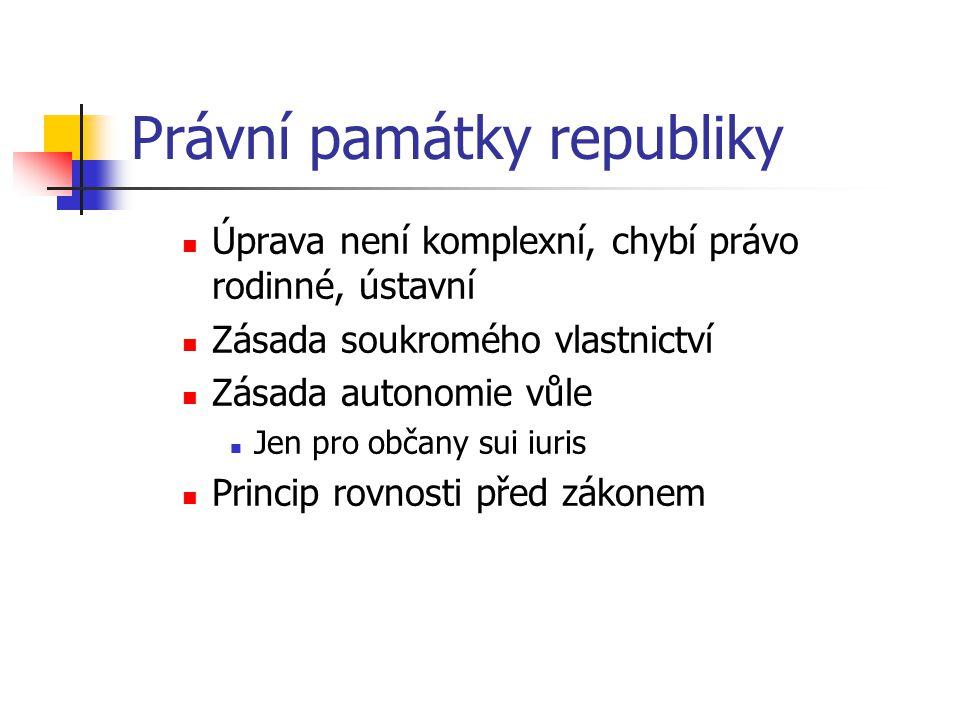 Právní památky republiky