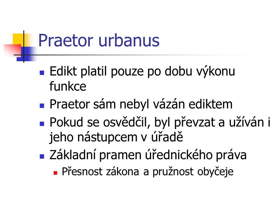 Praetor urbanus Edikt platil pouze po dobu výkonu funkce