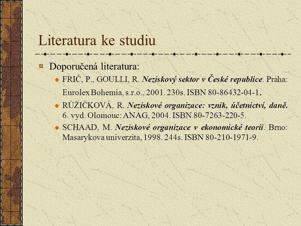 Literatura ke studiu Doporučená literatura: