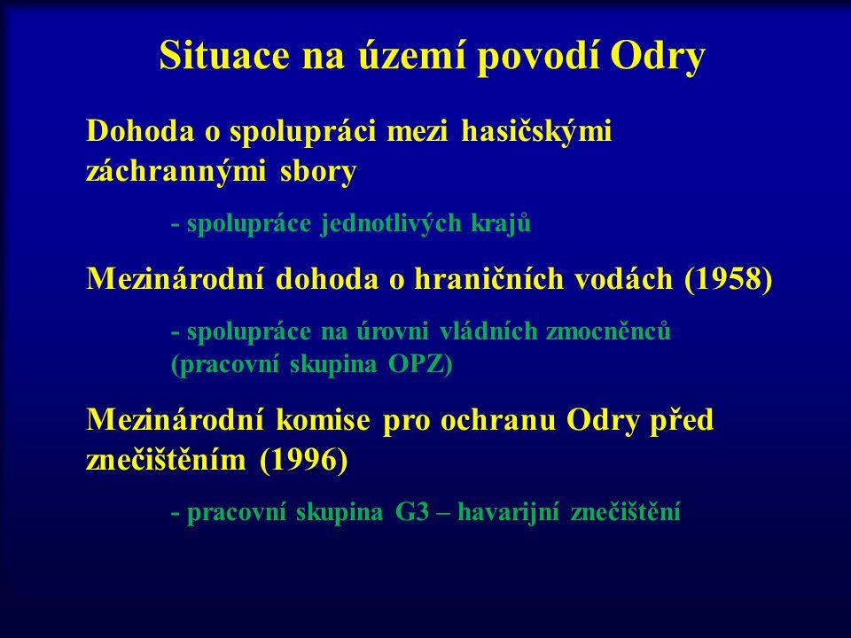 Situace na území povodí Odry