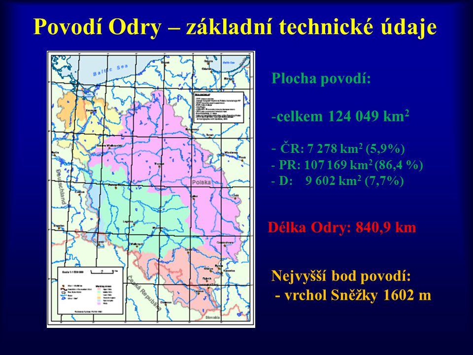 Povodí Odry – základní technické údaje