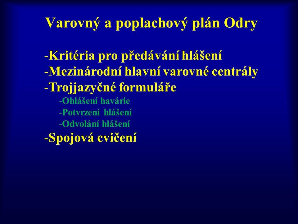 Varovný a poplachový plán Odry