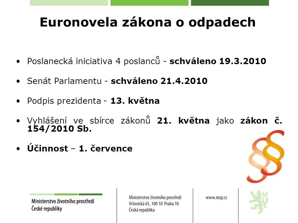 Euronovela zákona o odpadech