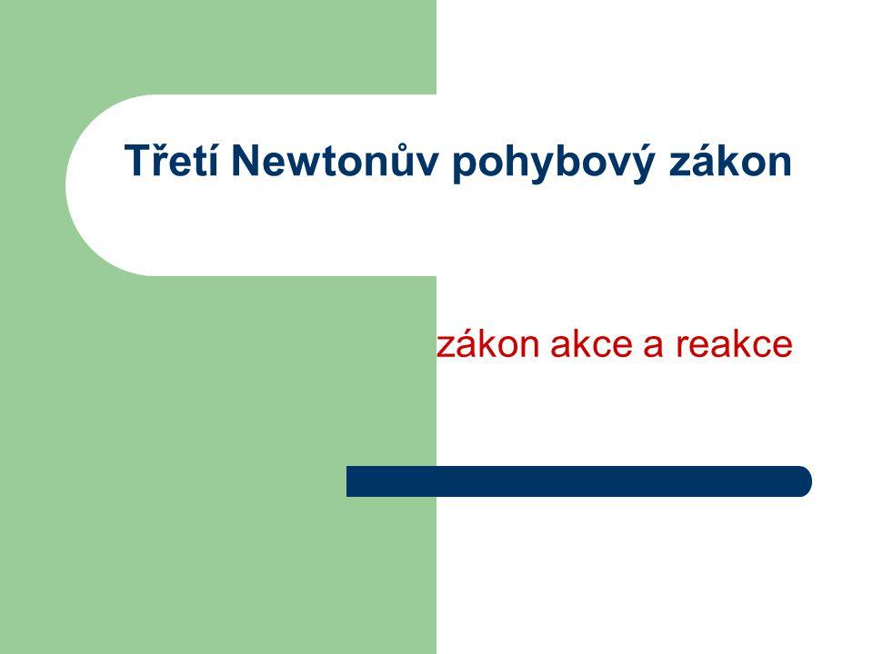 Třetí Newtonův pohybový zákon