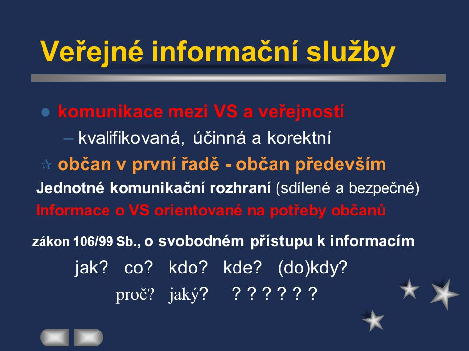Veřejné informační služby