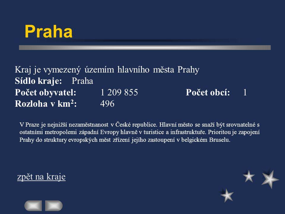 Praha Kraj je vymezený územím hlavního města Prahy Sídlo kraje: Praha