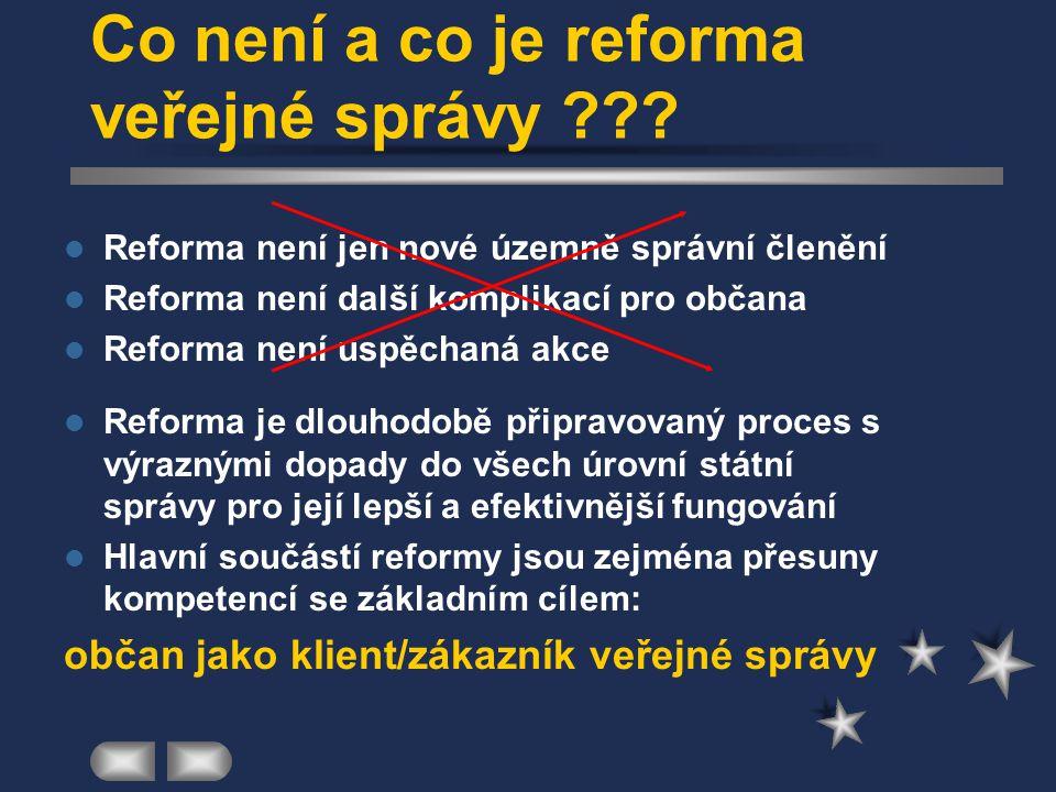 Co není a co je reforma veřejné správy