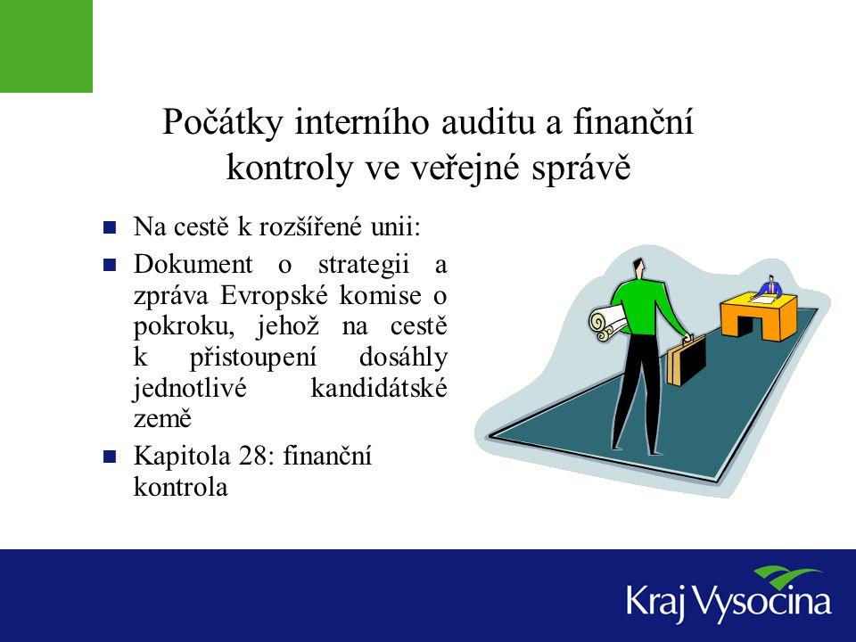 Počátky interního auditu a finanční kontroly ve veřejné správě