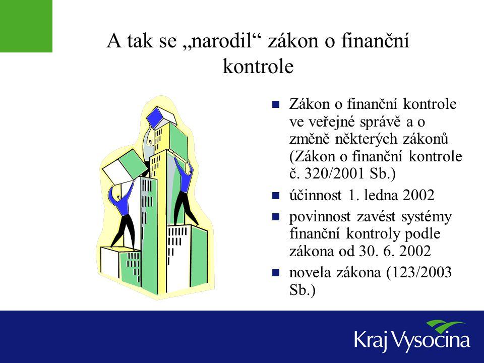 """A tak se """"narodil zákon o finanční kontrole"""