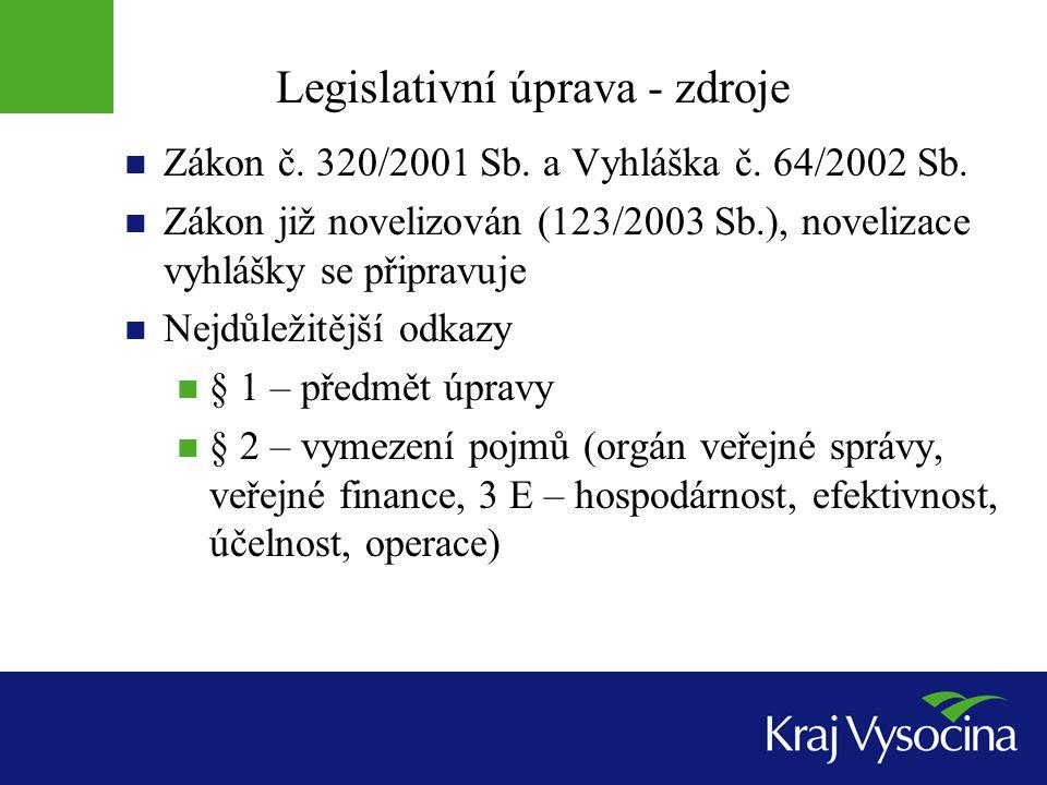 Legislativní úprava - zdroje