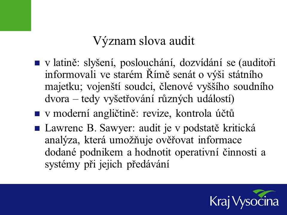 Význam slova audit