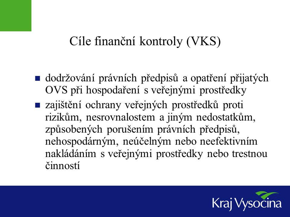 Cíle finanční kontroly (VKS)