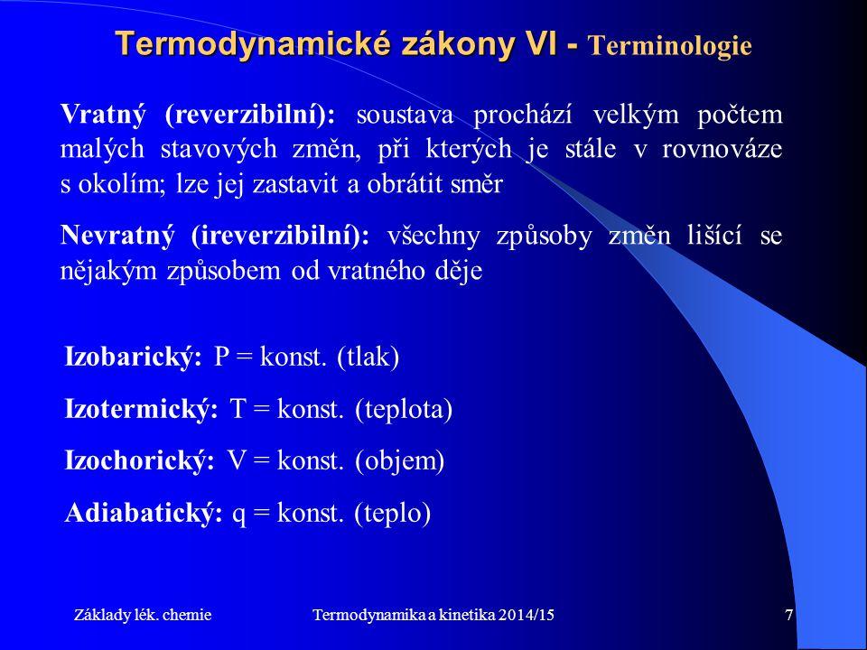 Termodynamické zákony VI - Terminologie