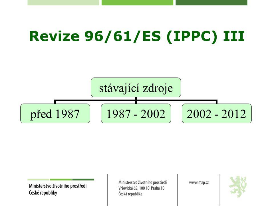 Revize 96/61/ES (IPPC) III