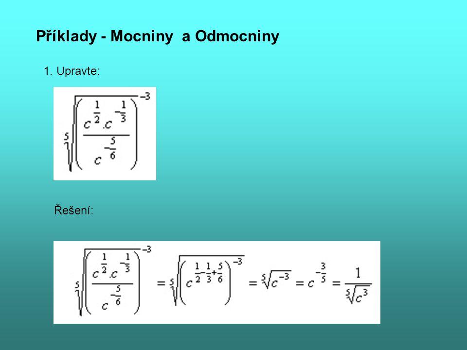 Příklady - Mocniny a Odmocniny