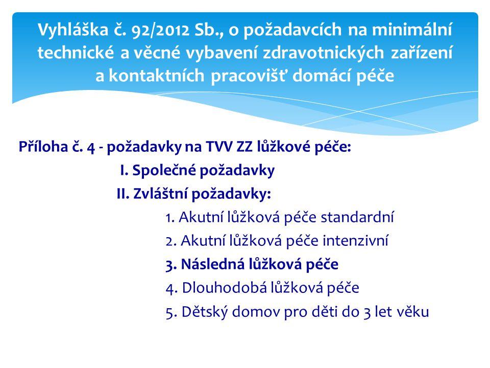 Vyhláška č. 92/2012 Sb., o požadavcích na minimální technické a věcné vybavení zdravotnických zařízení a kontaktních pracovišť domácí péče