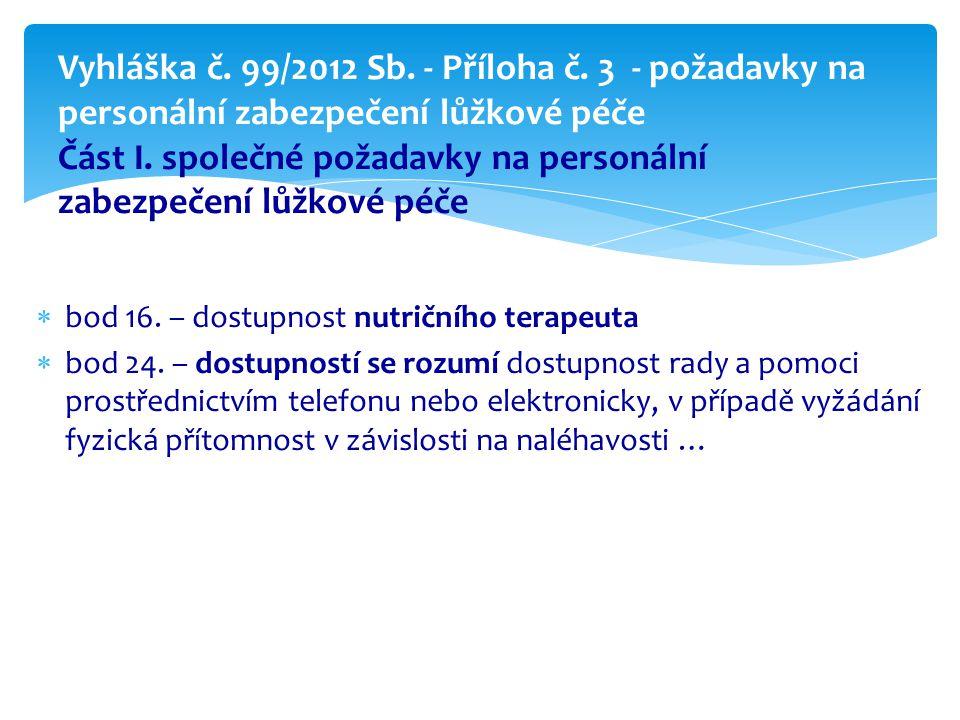 Vyhláška č. 99/2012 Sb. - Příloha č