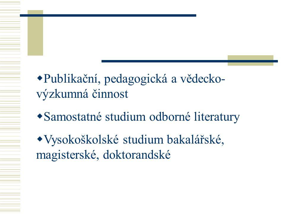Publikační, pedagogická a vědecko-výzkumná činnost