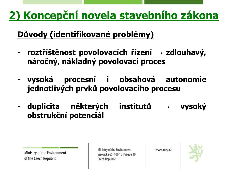 2) Koncepční novela stavebního zákona