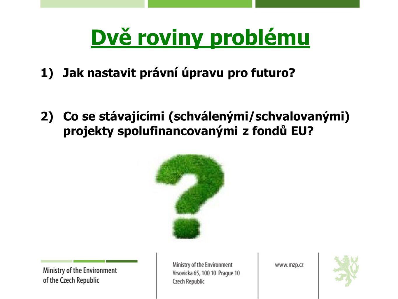 Dvě roviny problému Jak nastavit právní úpravu pro futuro
