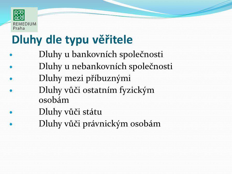 Dluhy dle typu věřitele