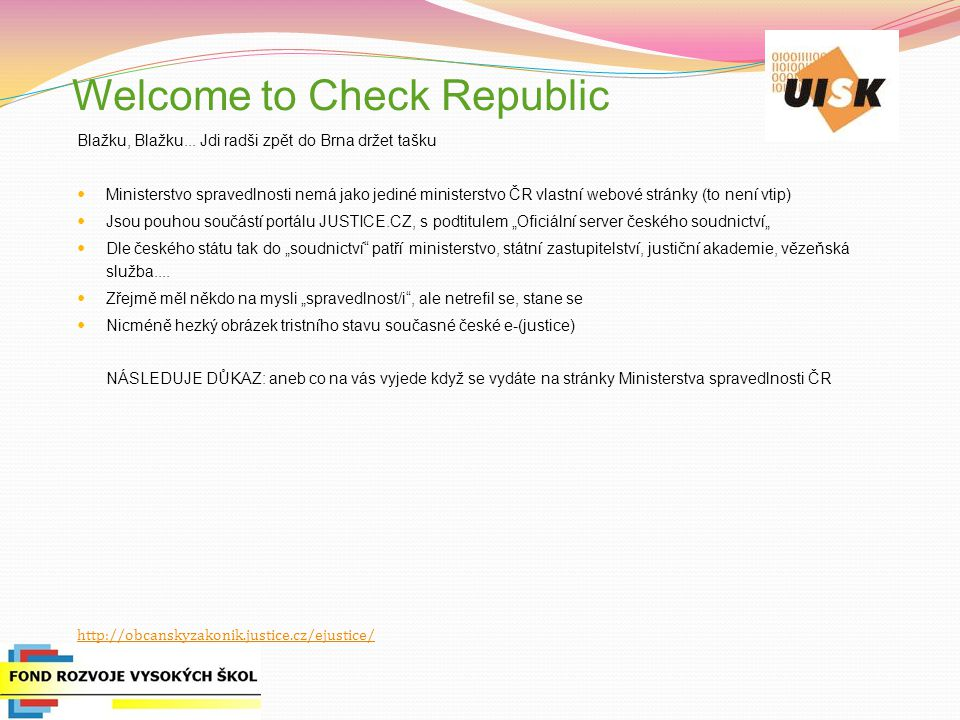 Welcome to Check Republic