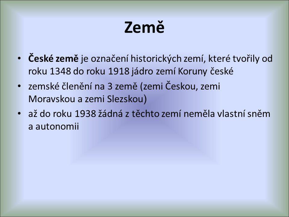 Země České země je označení historických zemí, které tvořily od roku 1348 do roku 1918 jádro zemí Koruny české.