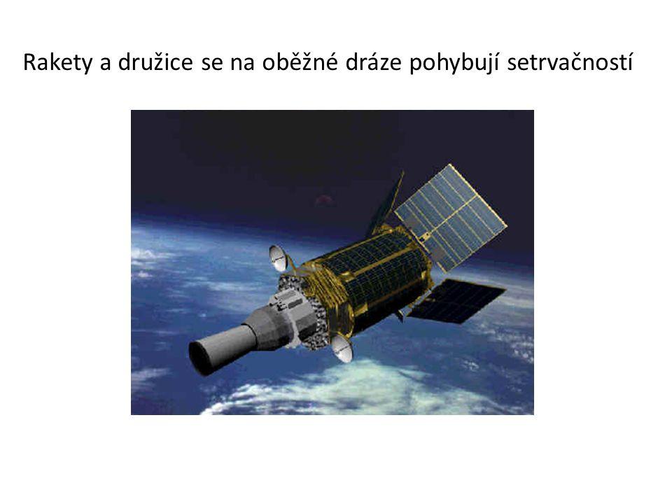 Rakety a družice se na oběžné dráze pohybují setrvačností
