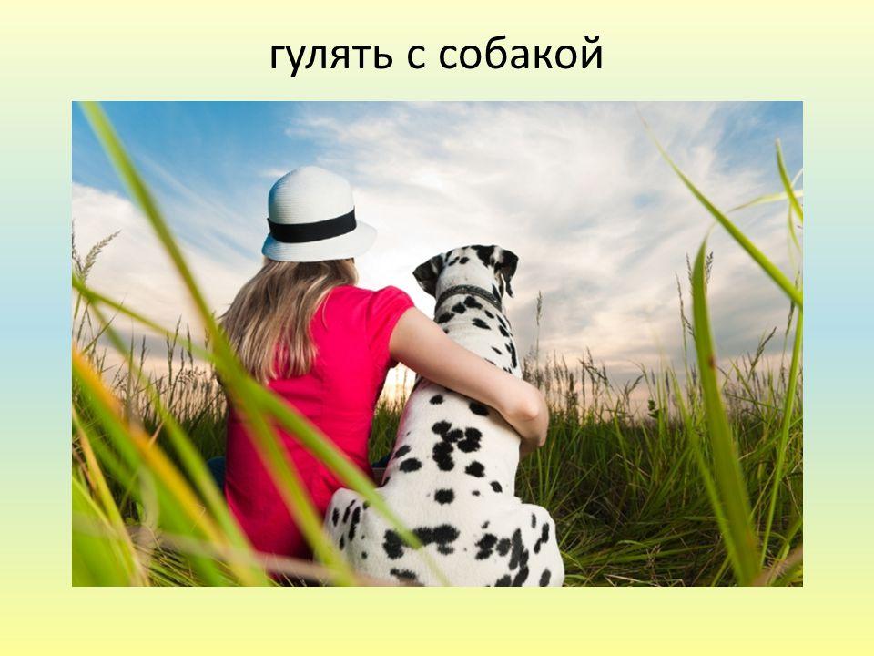 гулять с собакой
