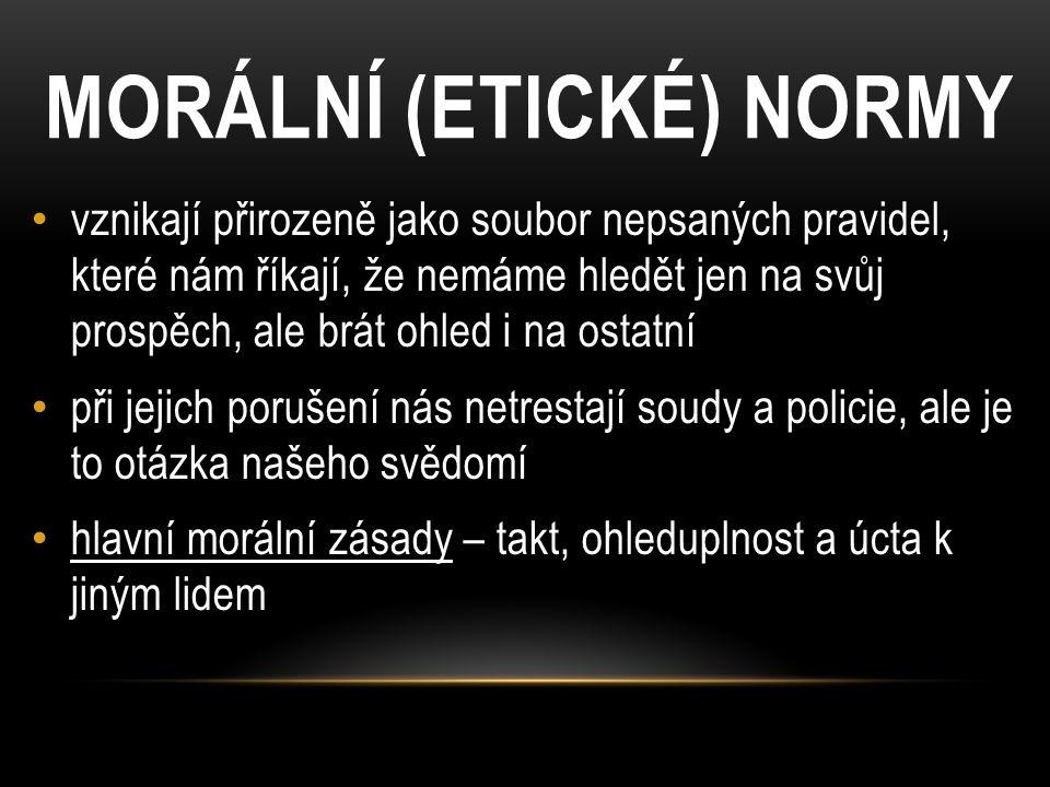 MORÁLNÍ (ETICKÉ) NORMY