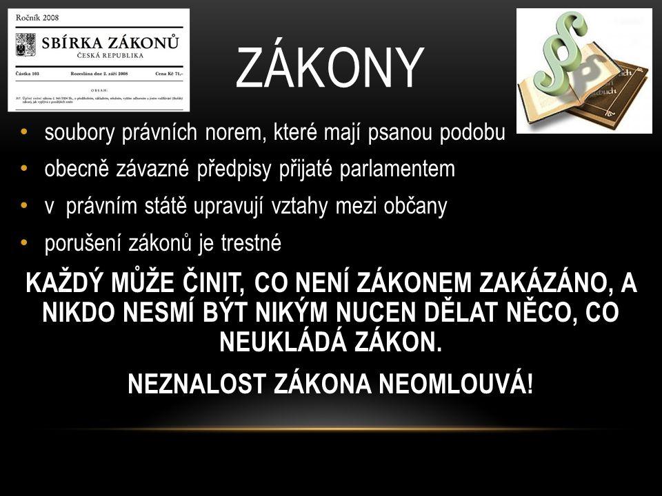 NEZNALOST ZÁKONA NEOMLOUVÁ!