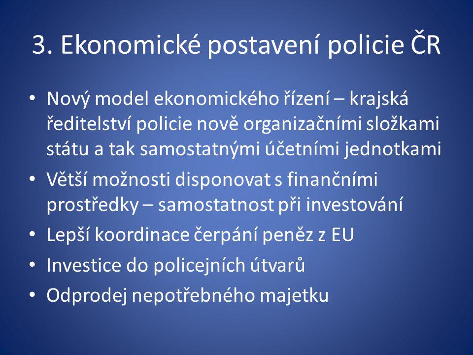 3. Ekonomické postavení policie ČR