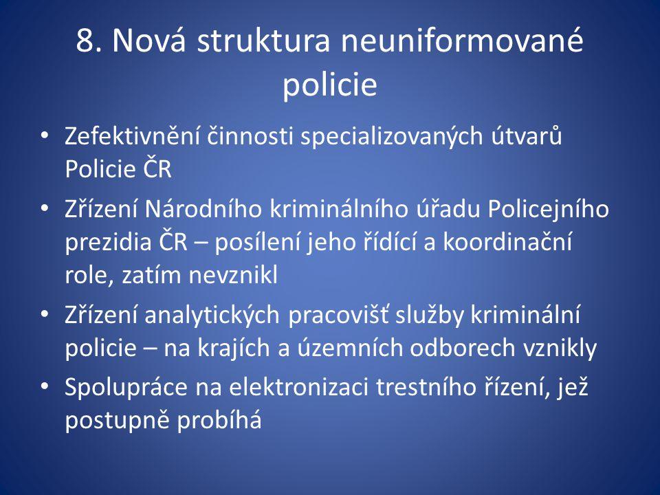 8. Nová struktura neuniformované policie