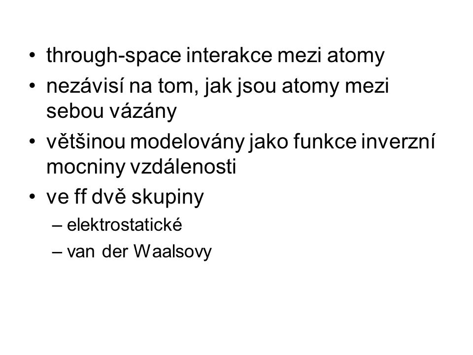 through-space interakce mezi atomy