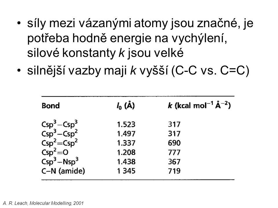 silnější vazby maji k vyšší (C-C vs. C=C)