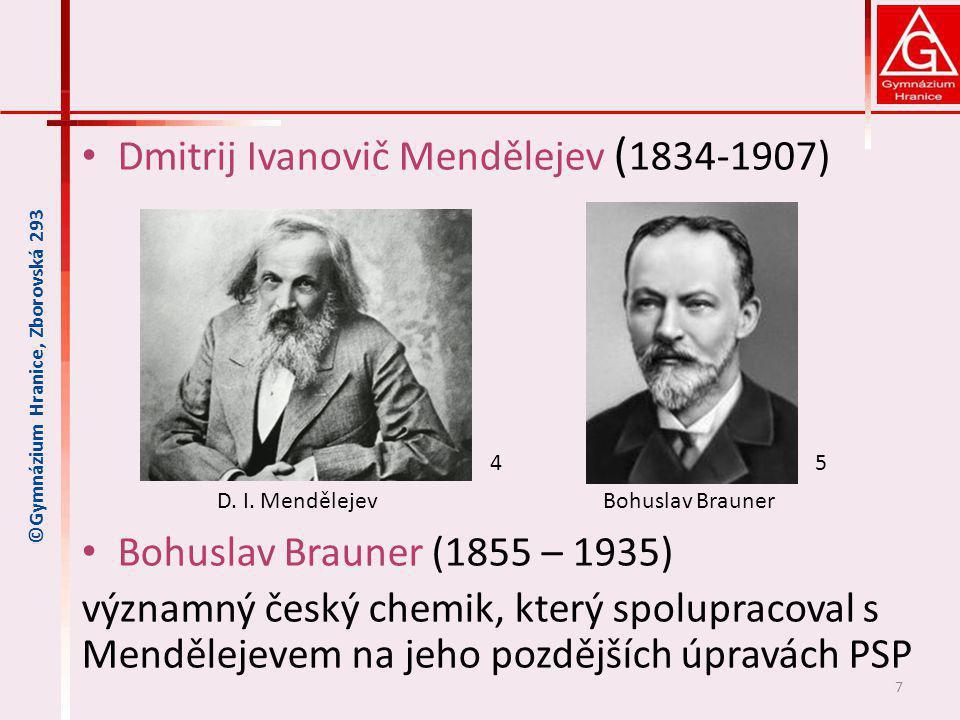 Dmitrij Ivanovič Mendělejev (1834-1907)
