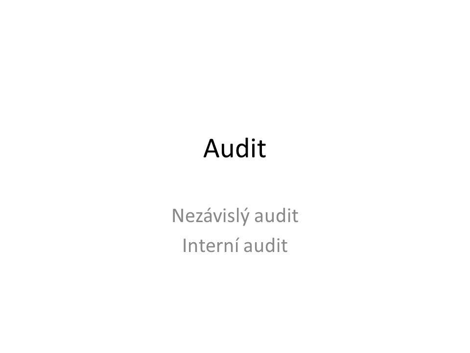 Nezávislý audit Interní audit