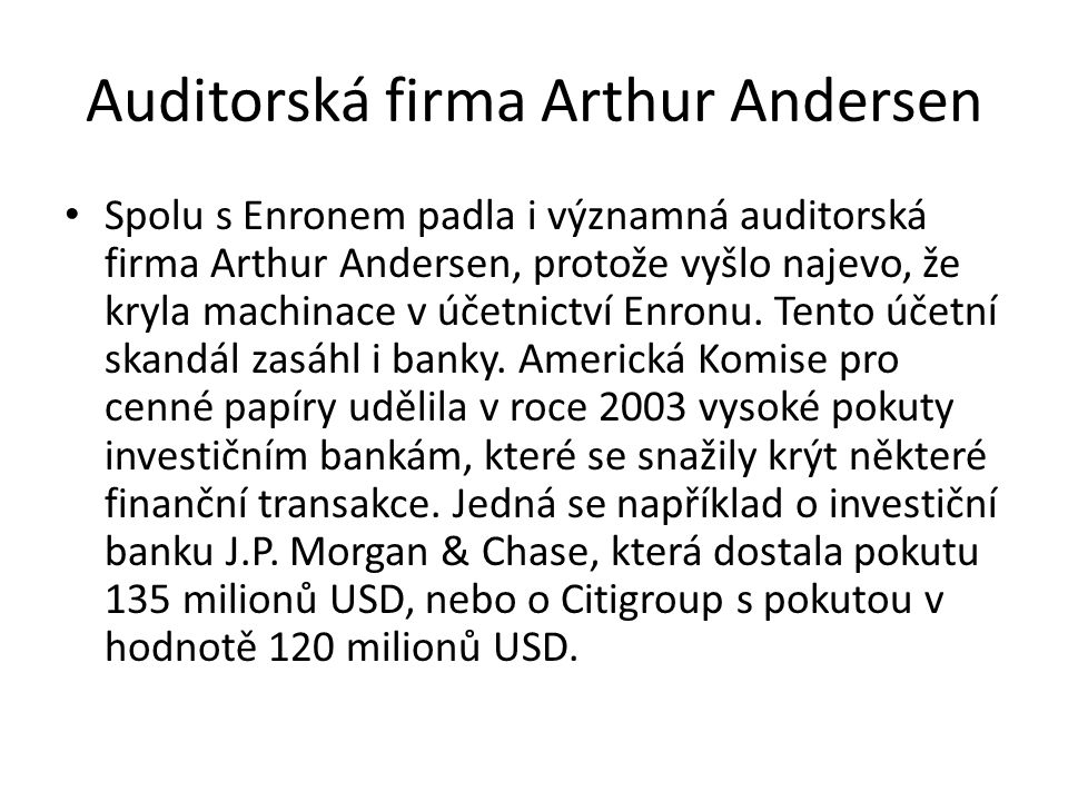 Auditorská firma Arthur Andersen