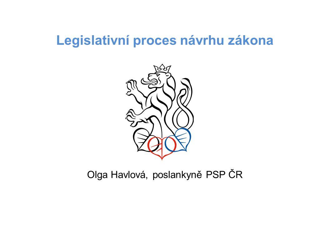 Legislativní proces návrhu zákona