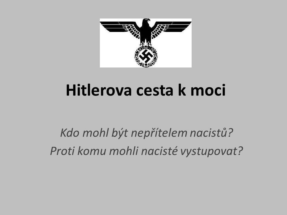 Kdo mohl být nepřítelem nacistů Proti komu mohli nacisté vystupovat
