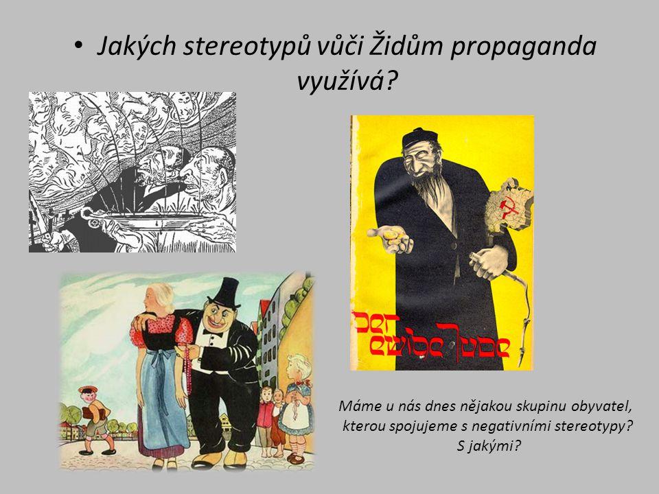 Jakých stereotypů vůči Židům propaganda využívá