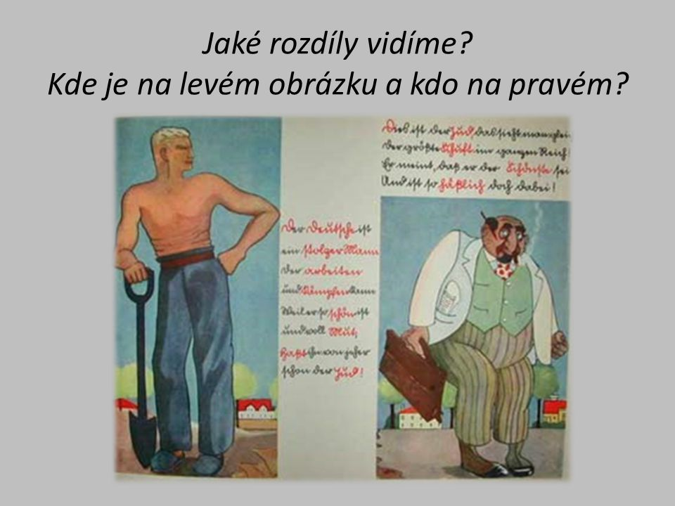 Jaké rozdíly vidíme Kde je na levém obrázku a kdo na pravém