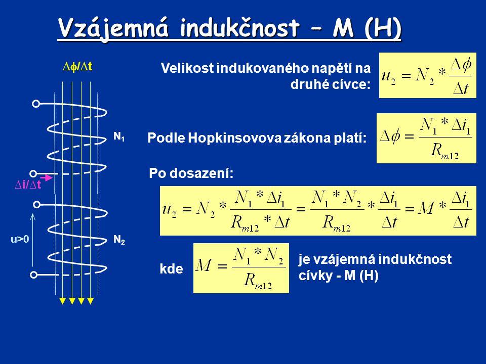 Vzájemná indukčnost – M (H)