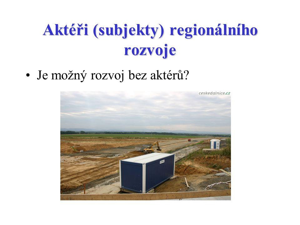 Aktéři (subjekty) regionálního rozvoje