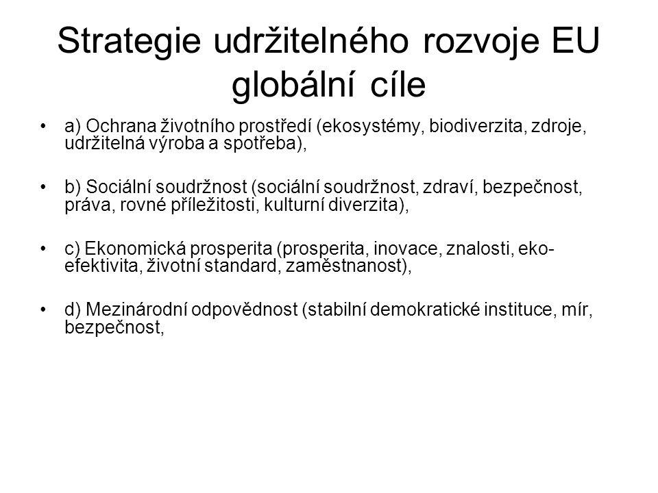 Strategie udržitelného rozvoje EU globální cíle