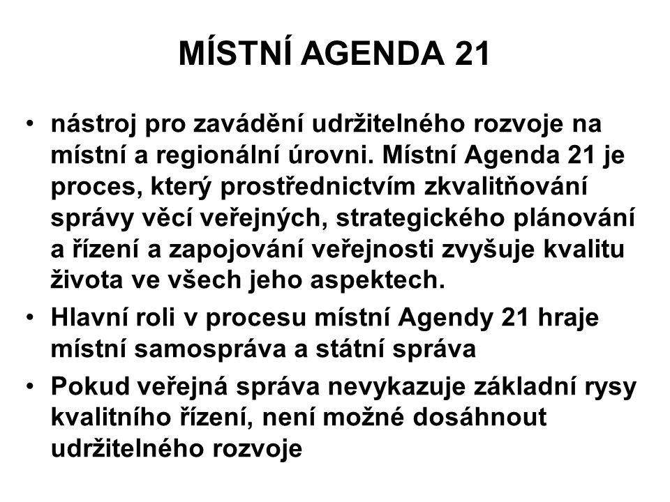 MÍSTNÍ AGENDA 21