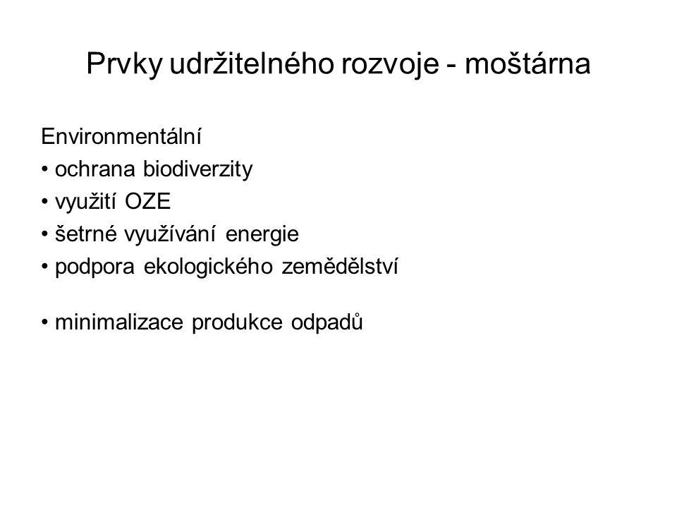 Prvky udržitelného rozvoje - moštárna