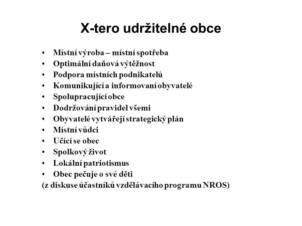 X-tero udržitelné obce